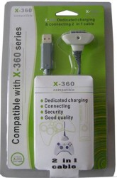 Controller Charge and Connection cable for Xbox 360 (no battery)