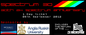 Sinclair ZX Spectrum 30th Conference & Party - 1 day Ticket - 8th Sept