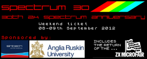 Sinclair ZX Spectrum 30th Conference & Party - 2 Day Weekend Ticket - 8th/9th Sept