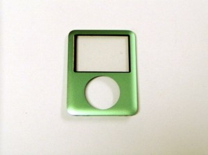Front Cover in Green for iPod Nano 3G