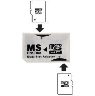 Dual Socket Micro SD(HC) Adapter