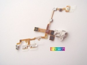 Headphone Jack with flex cable, white for iPhone 3G/3GS