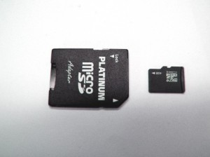 Micro SD card with SD-Adapter 4GB