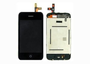 LCD Complete unit with touch screen and front glas for iPhone 3G