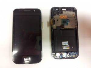 Samsung Galaxy SL (i9003) Display (Touchscreen + LCD) with frame