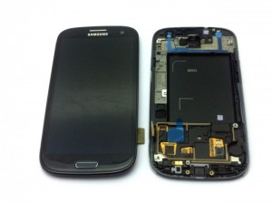 Samsung I9305 Galaxy S3 LTE Display unit with frame in black