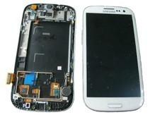 Samsung I9305 Galaxy S3 LTE Display unit with frame in white