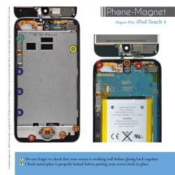 Phone-Magnet: Professional Magnetic Mat for iPod Touch 4G screws