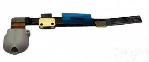 Apple iPad Mini replacement Headphone Jack (white) with Flex Cable
