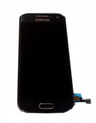 Samsung I9195 LTE Galaxy S4 Mini  Display unit with frame in black/pebble blue