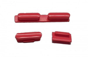 Button set in red colour(volume, mute and power button) for iPhone 5C