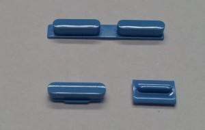 Button set in blue colour(volume, mute and power button) for iPhone 5C