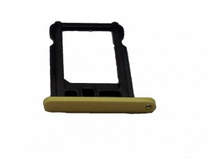 Nano Sim card holder for iPhone 5C yellow