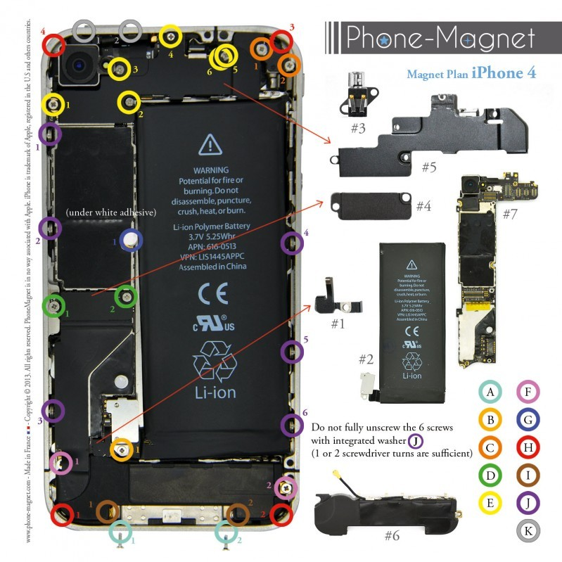 iphone 4 s cases phone magnet professional magnetic mat for iphone 4g 8607